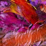 Fractal textured rojo stock de ilustración