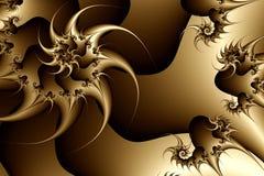 Fractal textuur, sepia stock illustratie