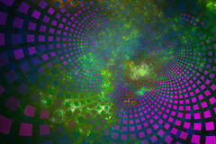 Fractal tiles curving out through plasma clouds Stock Photography