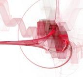 Fractal tonificado vermelho ilustração stock