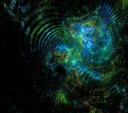 Fractal treasures in the depths of the ocean. Beautiful fractal treasures in the depths of the ocean Stock Image