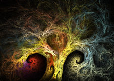 Fractal tree. High resolution tree generated with fractal algorithms Stock Photo