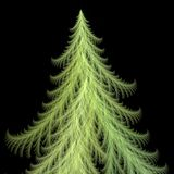 Fractal van de kerstboom vector illustratie