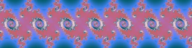 Fractal van de panoramapastelkleur in hoge resolutie Abstracte in kleuren als achtergrond Royalty-vrije Stock Afbeeldingen