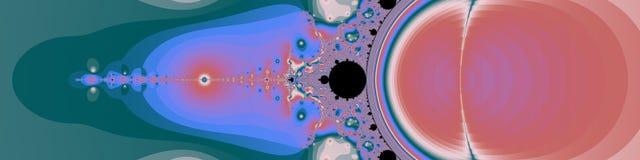 Fractal van de panoramapastelkleur in hoge resolutie Abstracte in kleuren als achtergrond Stock Afbeelding