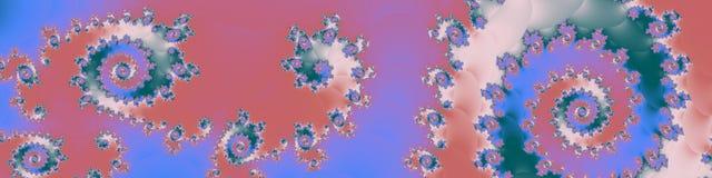 Fractal van de panoramapastelkleur in hoge resolutie Abstracte in kleuren als achtergrond Royalty-vrije Stock Afbeelding