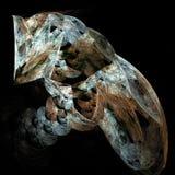 Fractal van de vlam kunstbeeld van een kat Stock Afbeeldingen