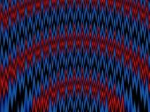 Fractal van de zigzag Stock Foto's