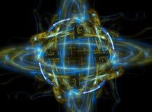 Fractal van het atoom of van de planeet Royalty-vrije Stock Afbeelding