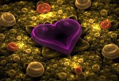 Fractal van het hart Stock Foto