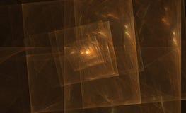 Fractal van het koper spaander Stock Afbeelding