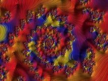 Fractal veelkleurige beelden Royalty-vrije Stock Afbeelding