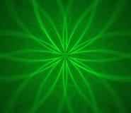 Fractal verde de la flor stock de ilustración