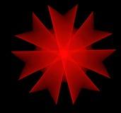 Fractal vermelho da flor Fotos de Stock Royalty Free