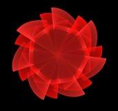 Fractal vermelho da flor Foto de Stock Royalty Free