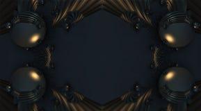 Fractal vier machen abstrakte geometrische composition-3d Wiedergabe Lizenzfreie Stockbilder