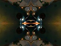 Fractal vier machen abstrakte geometrische composition-3d Wiedergabe Stockbilder