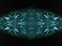 Fractal vier machen abstrakte geometrische composition-3d Wiedergabe Lizenzfreie Stockfotos
