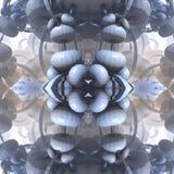 Fractal vier machen abstrakte geometrische composition-3d Wiedergabe Stockfotos