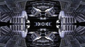 Fractal vier machen abstrakte geometrische composition-3d Wiedergabe Lizenzfreies Stockfoto