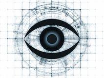 Fractal vision background Stock Photo