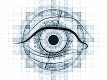 Fractal vision background Stock Image