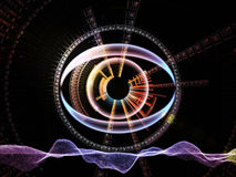 Fractal vision background Stock Photo
