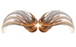 Fractal vleugelreeks stock illustratie
