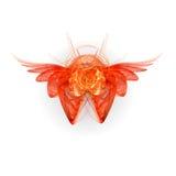 Fractal wing set stock illustration