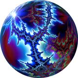 Fractal World 8. Fractal created with Ultra Fractal 5 and post processed with Corel Draw X3, Photopaint X3 and GIMP Stock Images
