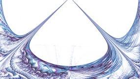 Fractal wzór na bielu Zdjęcie Stock