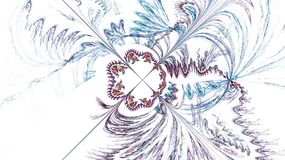 Fractal wzór na bielu Fotografia Stock