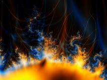 Fractal Zon in Kosmische ruimte Stock Foto