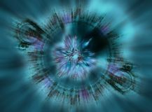 Fractal zoom background Royalty Free Stock Photo