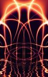 fractal02z5d lights over water Στοκ φωτογραφία με δικαίωμα ελεύθερης χρήσης