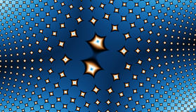 fractal12u2 polowe gwiazdy ilustracja wektor