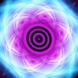 Fractalabstrakter quadratischer heller Neonhintergrund Stockfoto