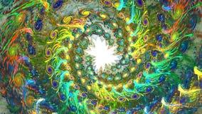 Fractalbakgrund med abstrakt ljus spiral Höjdpunkt specificerad ögla lager videofilmer