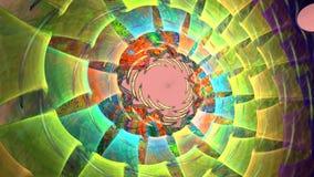Fractalbakgrund med abstrakt ljus spiral Höjdpunkt specificerad ögla stock video