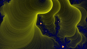 Fractalbakgrund och kosmisk sikt Arkivfoto