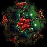 fractalbeståndsdel för adstract 3d Arkivfoton