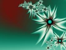 Fractalbild mit Blumen Für Ihren Text Grüne Farbe Lizenzfreie Stockfotos