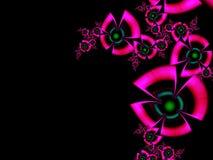 Fractalbild mit Blumen Für Ihren Text Rosa und schwarze Farbe Stockbild