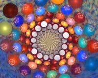 Fractalblommabakgrund Fotografering för Bildbyråer