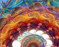 Fractalblommabakgrund Arkivbild