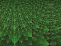 Fractale à carreaux verte et blanche abstraite illustration stock