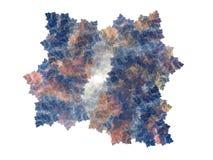 Fractale abstraite avec le modèle floral bleu coloré Images libres de droits