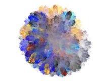 Fractale abstraite avec le modèle floral bleu coloré Photos stock