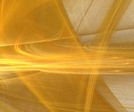 Fractale abstraite d'or Photo libre de droits
