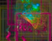 Fractale abstraite de boucle d'action de tendance de Digital, imagination futuriste de conception de beau papier peint de texture illustration de vecteur